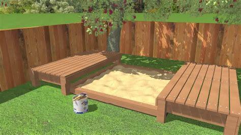 building  sandbox  cover wooden countertops diy