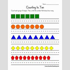 Counting To Ten Worksheet  Have Fun Teaching
