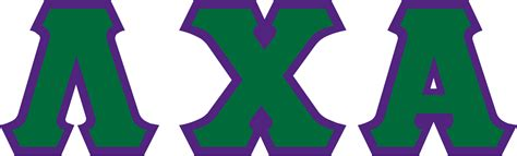 filelambda chi alpha letters green  purplesvg