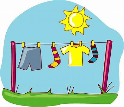 Clipart Clothes Dryer Laundry Line Air Dried