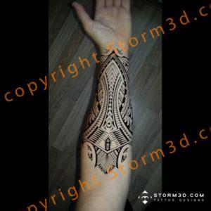 awesome tribal calf tattoo   symmetrical design