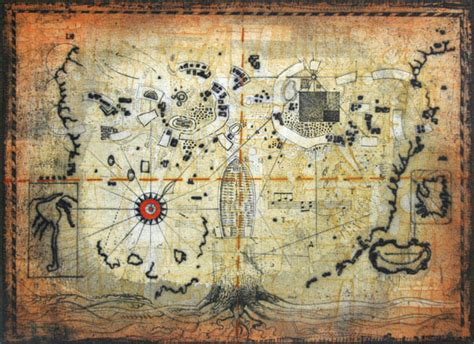 untitled treasure map original art  thomas  donohue