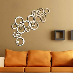 hot diy acrylic mirror wall stickers very nice office With best mirror decals for walls