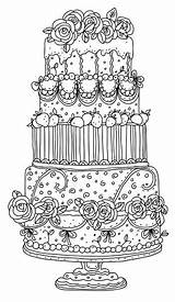 Coloring Pages Adult Cake Colouring Garden Cakes Detailed Printable Peaches Books Colorier Adults Sheets Coloriage Draw Drawing Easy Table Douban sketch template