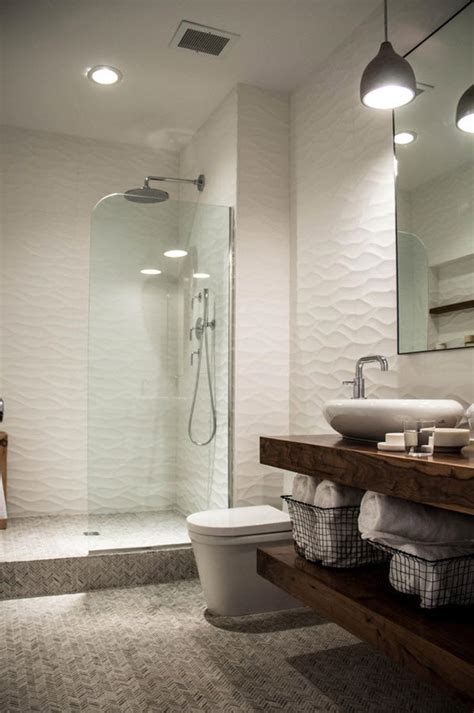 white ripple bathroom tiles ideas  pictures