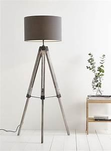 Tripod floor lamp green shade navy tripod floor lamp grey for Tripod floor lamp silver base white shade