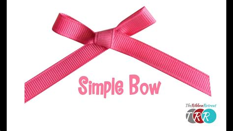 simple ribbon how to make a simple bow theribbonretreat