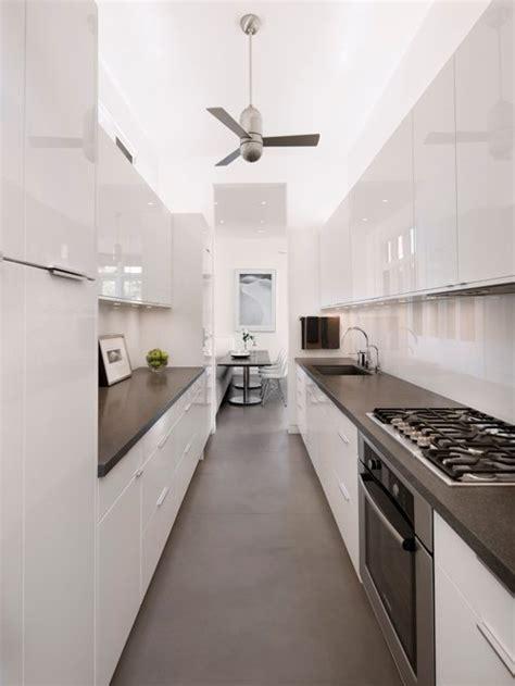 White Galley Kitchen Houzz