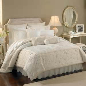 lenox solitaire king comforter set embroidery quilt beige white opal innocence ebay