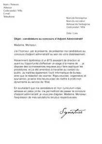 concours adjoint des cadres lettre de motivation concours adjoint administratif mod 232 le de lettre