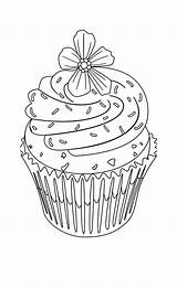 Coloring Cupcake Pages Flower Cupcakes Adult Cute Topping Drawing Drawings Printable Cake Colouring Hard Sheets Zentangle Birthday Adults Books Ceramic sketch template