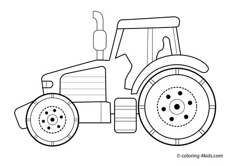 tractor template to print 14 tractor coloring page print color craft