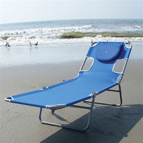 blue chaise lounge chair with rustproof steel frame