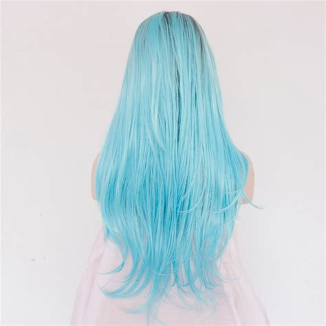 Two Tone Color Ombre Synthetic Glueless Lace Front Wigs