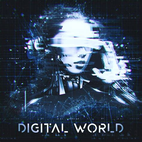 Digital World Album Cover Illustration Music Design