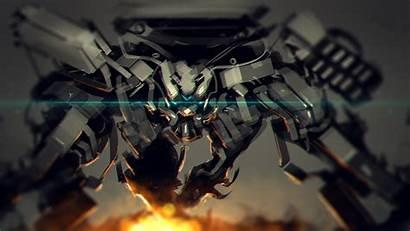Mech Robot War Concept Fantasy Mecha Space