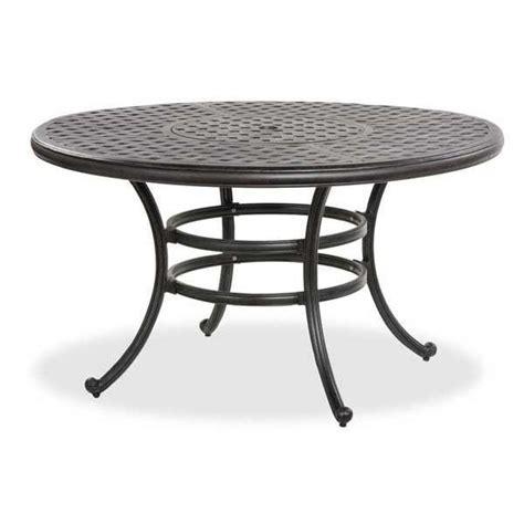 52 quot castle rock cast aluminum patio table ld10 a by