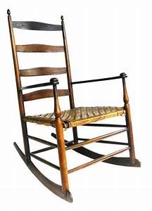 Shaker Mt Lebanon NY Rocking Chair 19th C Four Shaped