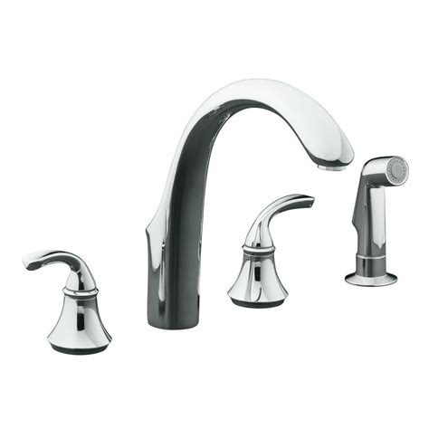 kohler forte 8 in 2 handle standard kitchen faucet with