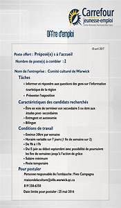Offre D Emploi Perpignan Pole Emploi : offre d 39 emploi d 39 t la maison de la culture warwick ~ Dailycaller-alerts.com Idées de Décoration