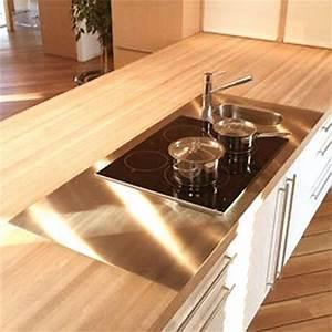 Plan De Travail En Bois : cuisine plan de travail en lot de cuisine moderne clair ~ Dailycaller-alerts.com Idées de Décoration
