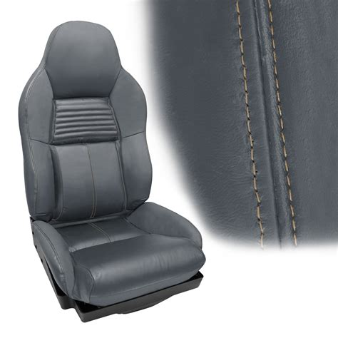 corvette   accent stitched leather seat cover