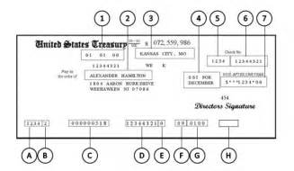 United States Treasury Check Number