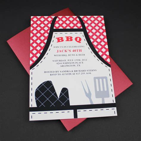 invitation template bbq apron invitation  print