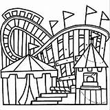 Coloring Amusement Park Pages Getcolorings Getdrawings sketch template