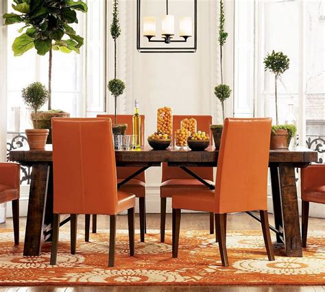 trendy bright  colorful dining area
