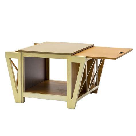 Tavolino da Salotto con Tiretti Laterali Bicolore