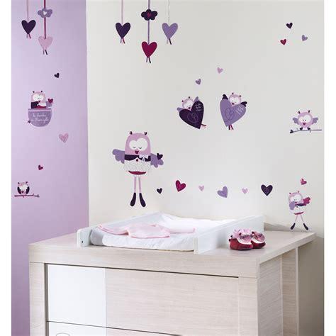 stickers chambre bebe fille mam 39 zelle bou stickers muraux violet de sauthon baby déco