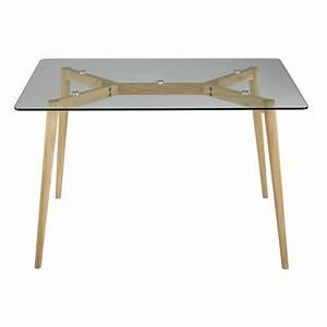Plaque De Verre Pour Table : table de salle a manger en verre ikea maison design ~ Dailycaller-alerts.com Idées de Décoration