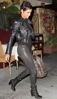 Halle Berry Leather Outfits
