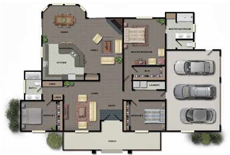 home planes 3d modern house plans collection