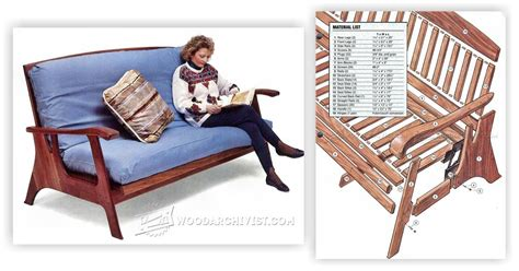 Futon Sofa Bed Plans • Woodarchivist