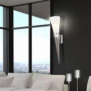 Led Strahler Flur : luxus led wand lampe esszimmer flur fackel glas strahler leuchte silber eek a ebay ~ Markanthonyermac.com Haus und Dekorationen