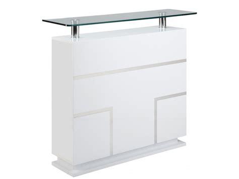 bureau laqué blanc design meuble de bar luminescence mdf laqué blanc leds