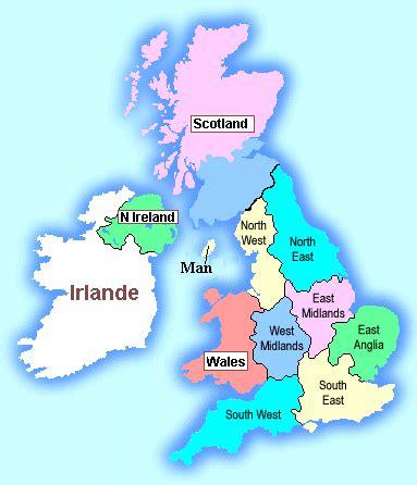 Carte Du Royaume Uni Sans Les Villes by Infos Sur Carte De Grande Bretagne Avec Les Regions