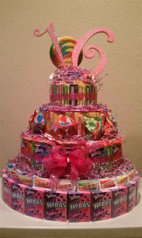 Sweet 16 Candy Cake Cool Idea Stacey Party Ideas