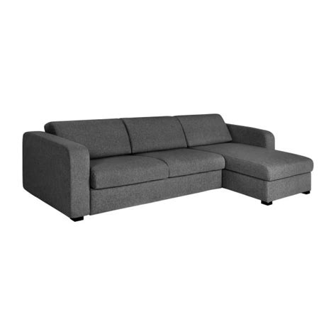 habitat canapé lit porto 3 canapé lit 3 places en tissu avec angle