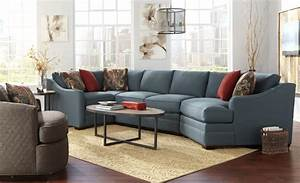 Four Piece Customizable Sectional Sofa With RAF Cuddler By
