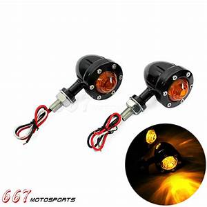 New Rear Turn Signals Lights Indicator Amber For Harley