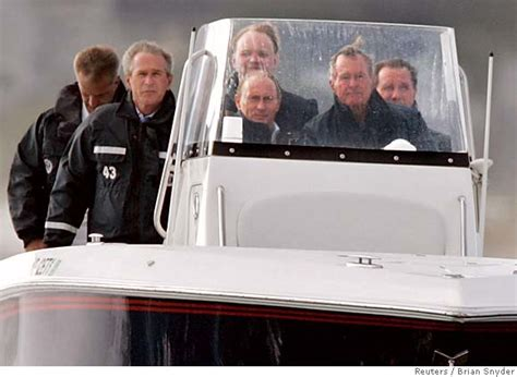 putin bush george president vladimir maine fishing boat kennebunkport ride former russia 2007 iran relaxing tense meet front agenda divisive