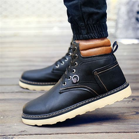 New England Autumn Winter Men Boots Outdoor High Top