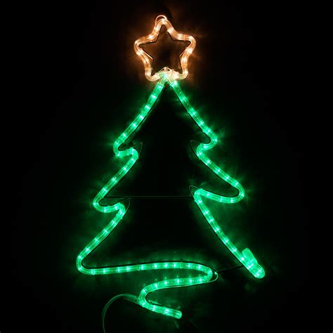 outdoor decoration  led green christmas tree  star