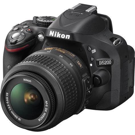 dslr or slr nikon d5200 dslr with 18 55mm lens black 1503 b h