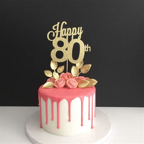 large 80th birthday number cake any age 80th birthday cake topper happy 80th cake topper