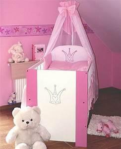 Baby Bettset Mädchen : krone bett rosa babybett kinderbett 120x60 baby bett ~ Watch28wear.com Haus und Dekorationen