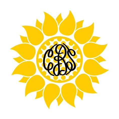 sunflowers monogram cuttable frame cricut monogram monogrammed sunflower sunflower images